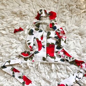 Rose wrap shirt